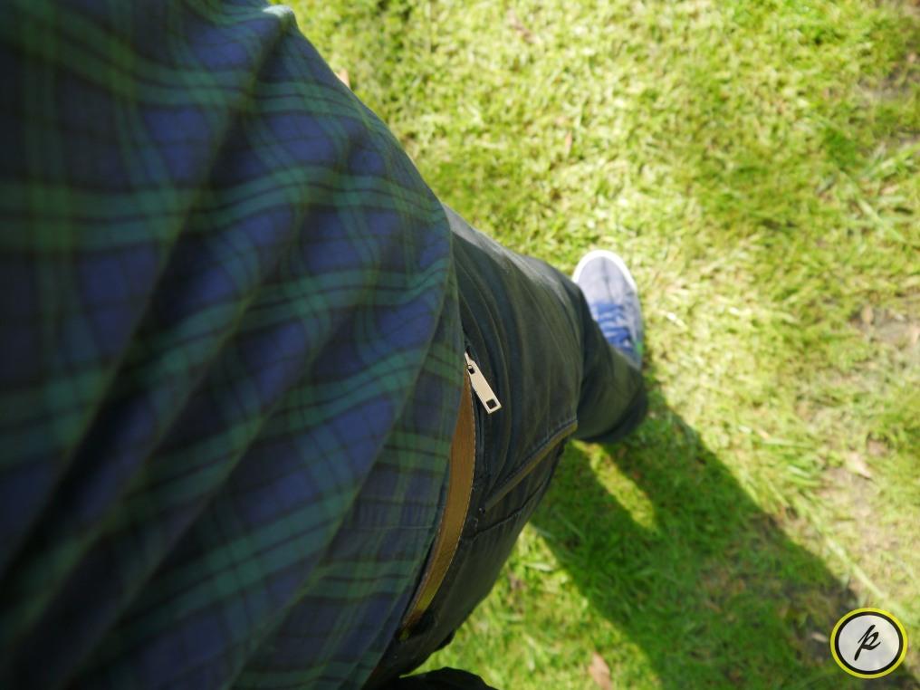 Vintage brown leather belt & Zara Men pants